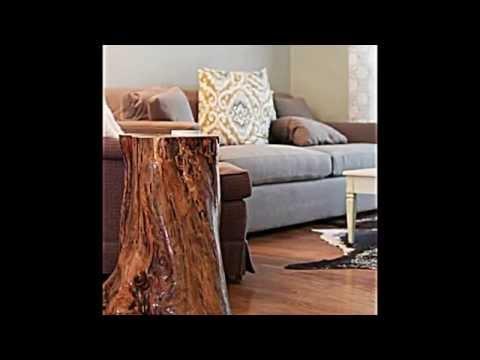 Deko Und Möbel Aus Baumstamm Selber Machen -- 15 Schnelle Bastelideen