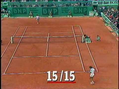 ビランデル vs アガシ ローランギャロス 1988 SF 5° set 2