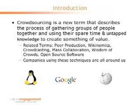Crowdsourcing Part One