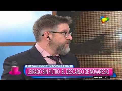 Fuerte cruce entre Luis Novaresio y Juan Leyrado