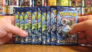 9 Pokemon XY Evolutions Booster Pack Opening