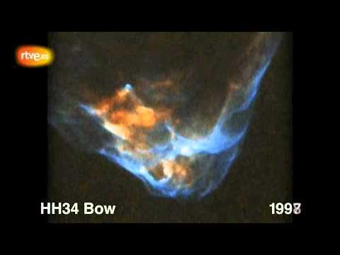 El Hubble graba cómo nace una estrella