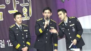 160329 최강창민 최시원 동해 경찰병원 환우위문음악회 선물 증정