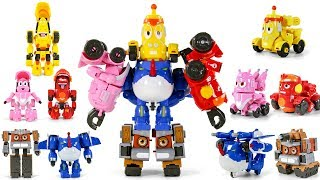 Larva Rangers Red Yellow Pink BlackBlue Brown Transformers Combiner Robot Toys