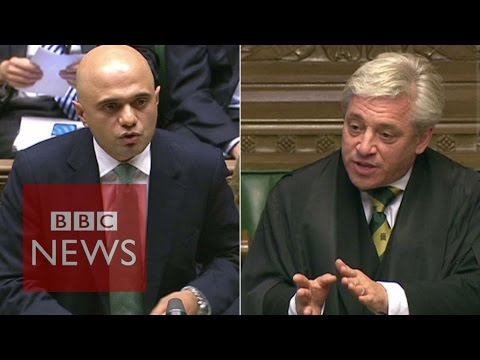 Speaker John Bercow accuses Sajid Javid of 'incompetence' - BBC News