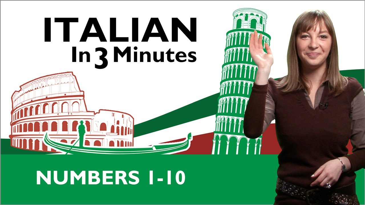 Learn Italian - Italian Numbers 1-10 - YouTube