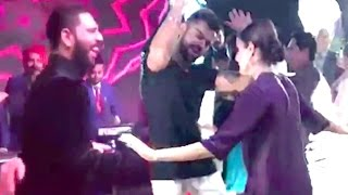 CUTE Video- Virat Kohli Anushka Sharma Dancing At Yuvraj - Hazel Wedding