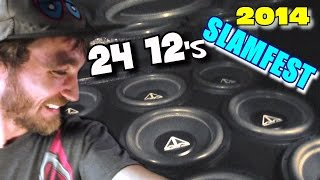"24 12"" Subs on 24,000 Watts 