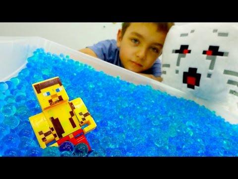 Обзор игрушек Майнкрафт Лего и чит-коды для Стива.