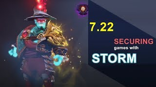 How I SECURE games with STORM SPIRIT in 7.22 | Dota 2 Guide