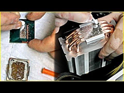 🚩 замена термопасты на жидкий металл