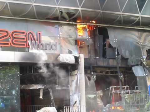 CentralWorld Mall, Bangkok, burns – 19 May 2010