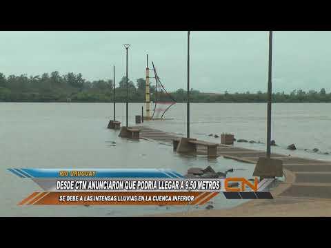 El área de hidrología de CTM advierte que el río podría alcanzar una altura de 9,50 m. en las próximas horas.