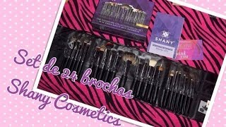 Reseña Set de 24 Brochas Shany Cosmetics - Review brushes set 24 pieces Shany Cosmetics