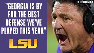 LSU Tigers Ed Orgeron Press Conference: SEC Championship Game Preview | CBS Sports HQ