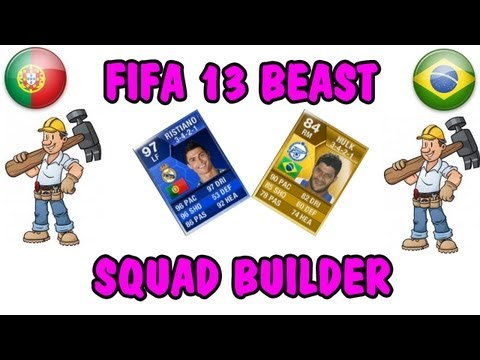 FIFA 13 Ultimate Team Squad Builder - BEAST PORTUGUESE TEAM!