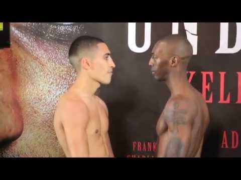 JORDAN GILL v BARRINGTON BROWN - OFFICIAL WEIGH IN FROM VIDEO FROM SHEFFIELD 'UNBREAKABLE'