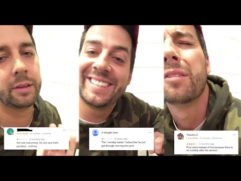 Comedian John Crist Shares Real Google Reviews of Churches