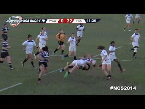 Huge Hits by Women's Eagles Rugby Player Meya Bizer