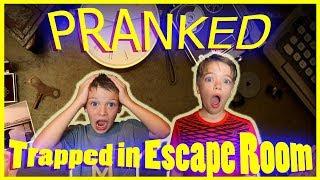 DAD PRANKS - TRAPS KIDS IN ESCAPE ROOM 😱 / Steel Kids