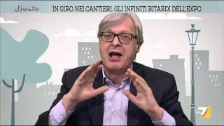 Sgarbi: 'Padiglione Italia cesso immondo, Expo peggio dell'Isis'