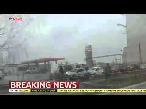 Police Road Block After Paris Attack