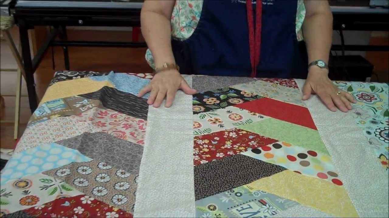Friendship Braid Quilt Idea Using Half Hex Ruler Youtube