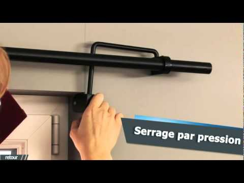 Ridorail ib tringle rideau pour fen tre encastr e for Tringle pour fenetre pvc