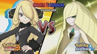 Pokemon Sun And Moon: Champion Cynthia Vs Lusamine (Pokemon Battle Tree Cynthia)