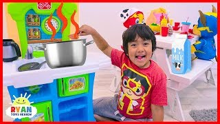 Ryan Pretend Play Kitchen Food Toys with Mighty Pups Paw Patrol!