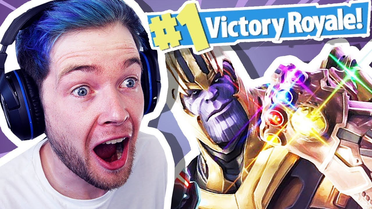 DANTDM REACTS TO THANOS IN FORTNITE!!!