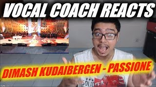 Vocal Coach Reacts to Dimash Kudaibergen - Passione ~ New Wave 2019