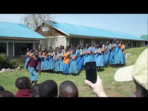 Girls Dance at Pimbiniet Primary School