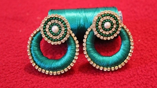 Simple and Beautiful Silk thread earrings/Chandbali Silk Thread Earrings