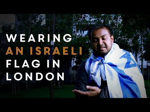 Zionist wears Israeli flag in London - watch what happens next