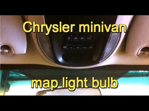 2001-2007 Dodge Grand Caravan/Chrysler Town and Country map light bulb replacement