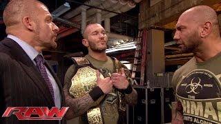 Batista Confronts Randy Orton Raw Feb 17 2014