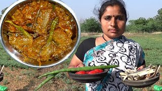 South Indian Cooking Amazing Traditional Small Dry Fish Drumsticks Curry Village Style Country Foods