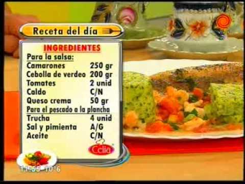 La receta del día Trucha con salsa de camarones y flan al perejil pt4.3gp