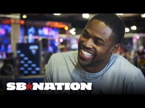 We asked Torrey Smith five minutes of crazy trivia at Super Bowl XLIX