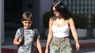 Kourtney Kardashian And Mason Disick Are All Matchy-Matchy In Camouflage!
