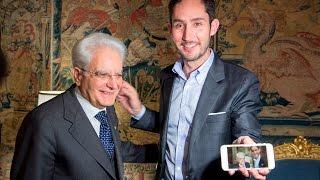 il Presidente Mattarella incontra il fondatore di Instagram Systrom