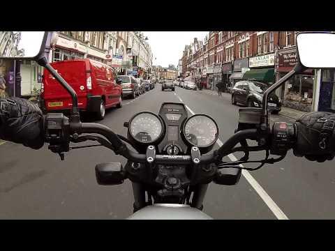 GoPro Suzuki GS 650 G Katana Motorcycle Footage Around London