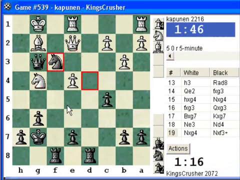 Chess World.net: Blitz #110 vs. kapunen (2216) - Dutch Defence - Lenningrad Fianchetto Bishop