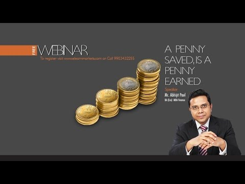 A Penny saved, is a Penny earned by Abhijit Paul