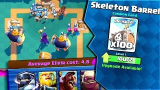 BEST or WORST? Funny SKELETON BARREL Draft DECK Clash Royale
