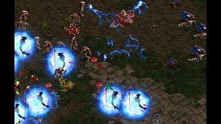 Larva (Z) v Shuttle (P) on Fighting Spirit - StarCraft  - Brood War REMASTERED
