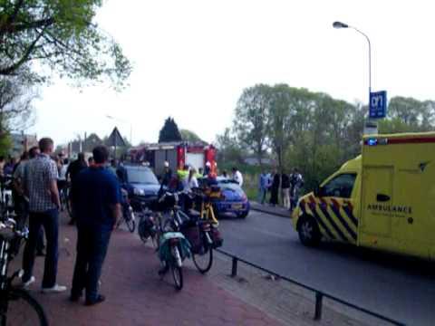 Ongeval op de Noorderweg in Enkhuizen