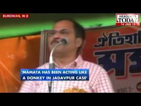 Mamata acting like a donkey in Jadavpur case: Adhir Ranjan Chowdhury