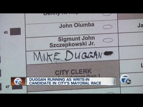 Mike Duggan running as a write-in candidate